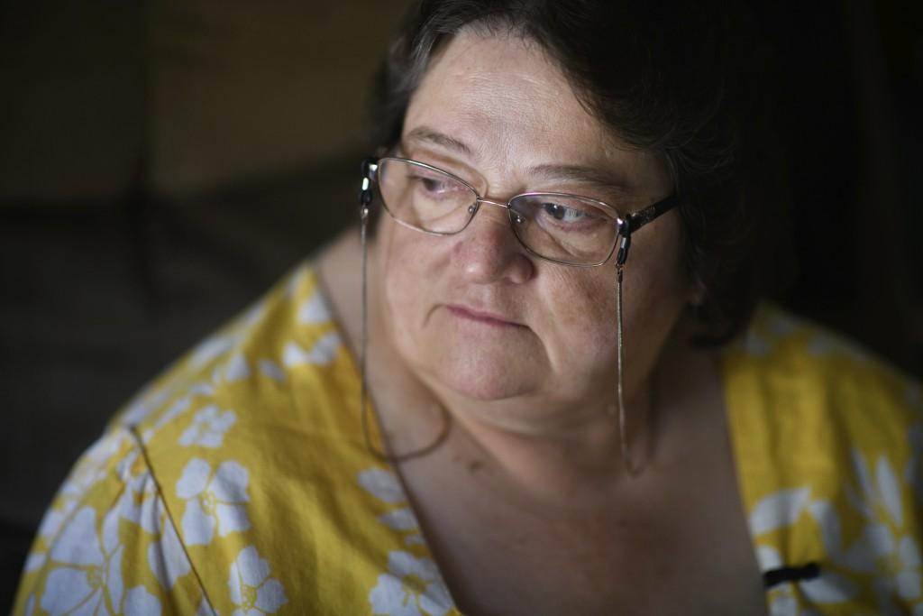 Doris Kelley, 57, sits in her home on Monday, June 29, 2020 in Ruffs Dale, Pa. Kelley was one of the first patients in a University of Pittsburgh Medi...
