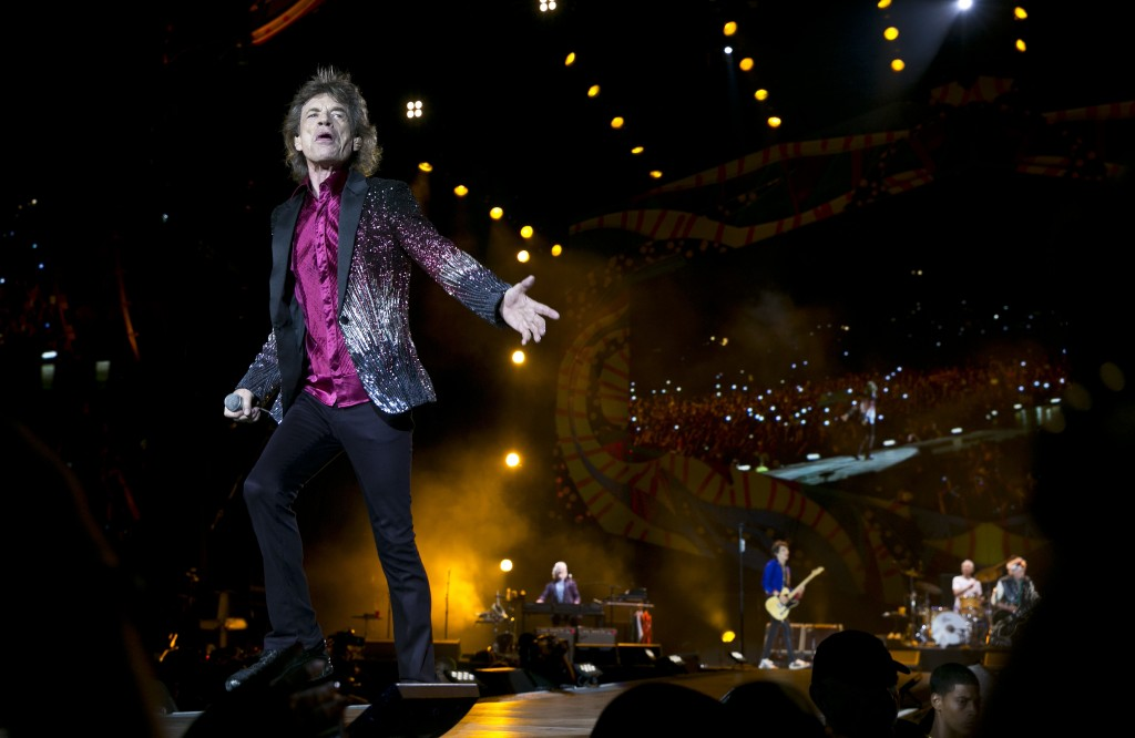 FILE - In this March 25, 2016 file photo, Rolling Stones frontman Mick Jagger performs in Havana, Cuba. The Rolling Stones are releasing a new version...