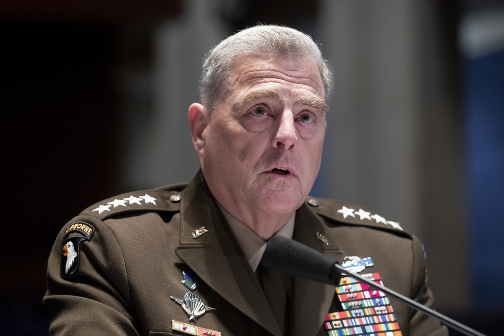 Chairman of the Joint Chiefs of Staff Gen. Mark Milley testifies during a House Armed Services Committee hearing on Thursday, July 9, 2020, on Capitol...