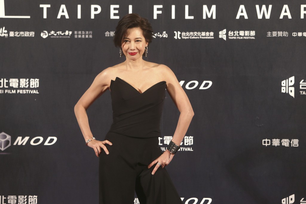 Taiwanese actress Ding Ning poses on the red carpet at the 2020 Taipei Film Festival in Taipei, Taiwan, Saturday, July 11, 2020. Ding is nominated for...