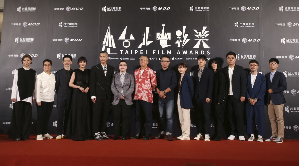 "The team of movie ""Detention"" pose on the red carpet at the 2020 Taipei Film Festival in Taipei, Taiwan, Saturday, July 11, 2020. The 2020 Taipei Film..."
