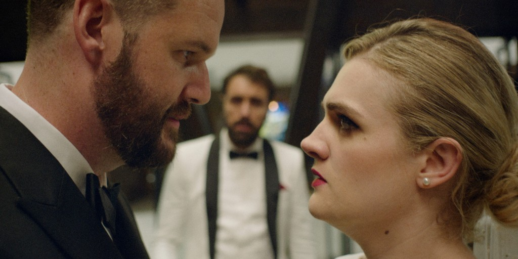 """This image released by Sony Pictures Classics shows Kyle Marvin, left, and Gayle Rankin in a scene from """"The Climb."""" (Sony Pictures Classics via AP)"""