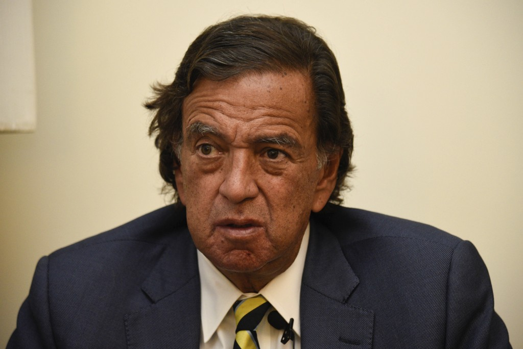 FILE - In this Jan. 24, 2018 file photo, former New Mexico Gov. Bill Richardson gives an interview in Yangon, Myanmar. Richardson will travel the week...