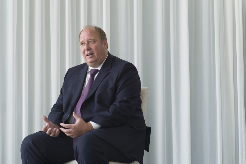 Helge Braun Head of Federal Chancellery and German Minister for Special Task answered questions during an interview with the Associated Press at the c...