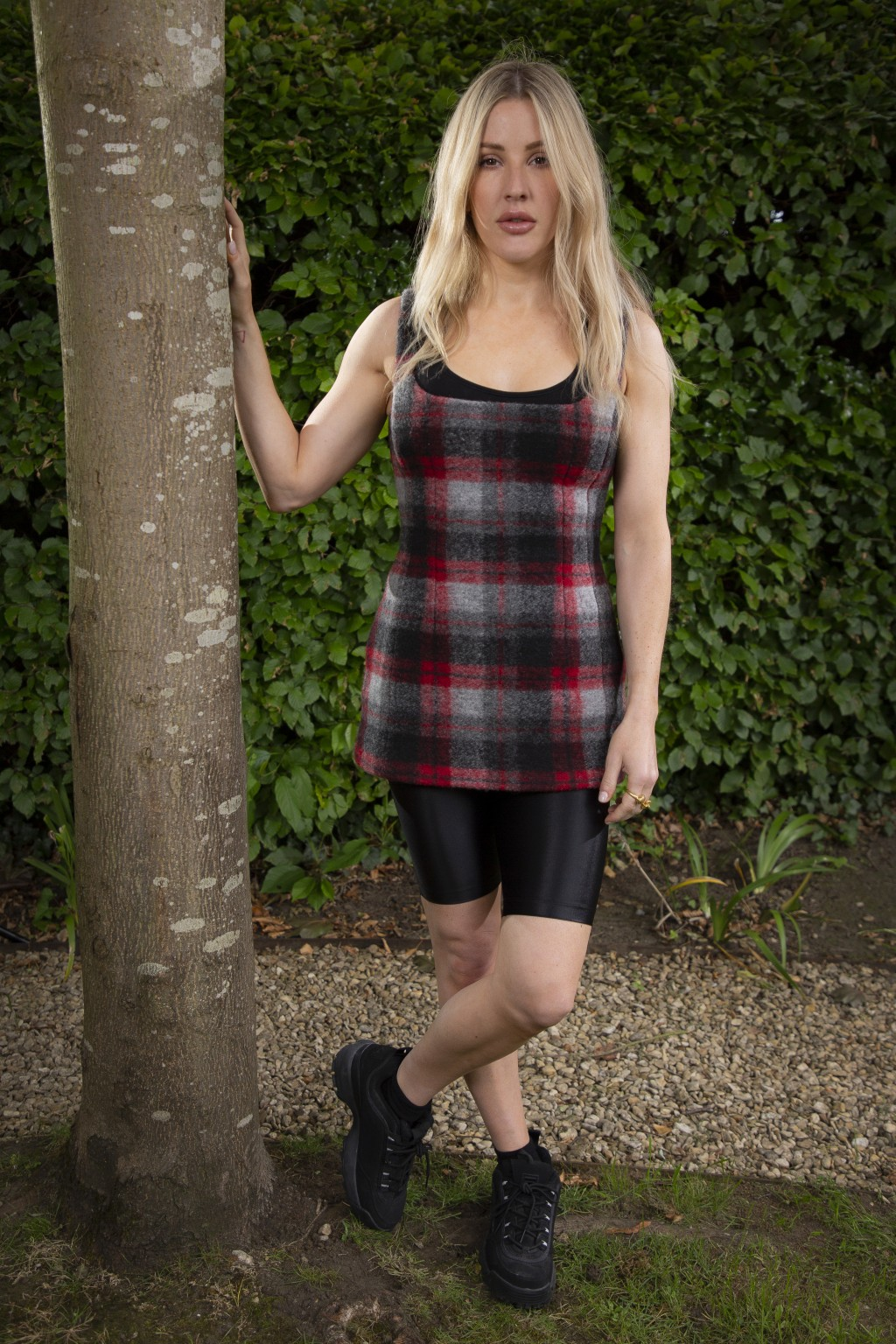 """In this July 6, 2020 photo, British singer-songwriter Ellie Goulding poses for portraits in Oxfordshire to promote her new album, """"Brightest Blue"""", sc..."""