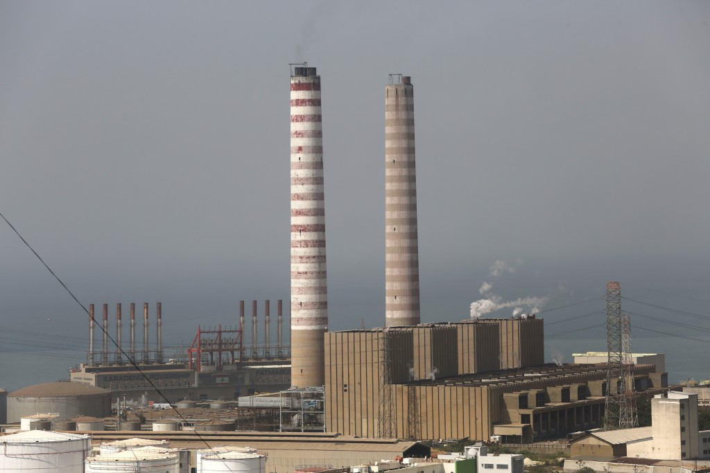 A view of Zouq Mosbeh power plant, north of Beirut, Lebanon, Monday, April 8, 2019. Lebanon is looking to China as its economic crisis worsens and Wes...