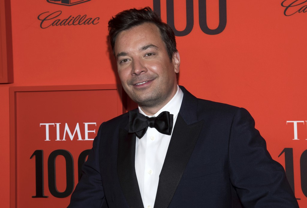 "FILE - In this April 23, 2019 file photo, Jimmy Fallon attends the Time 100 Gala in New York.  Fallon and the ""Tonight Show Starring Jimmy Fallon"" sho..."