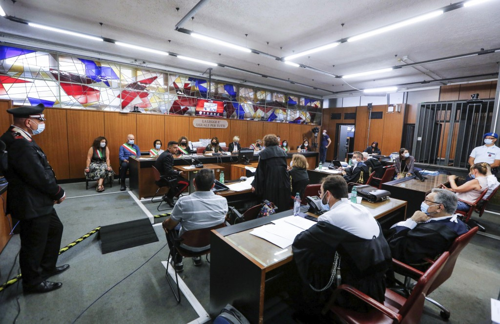 A view of the court during an hearing of the trial for the case of two American teenagers accused of slaying Italian Carabinieri paramilitary police o...