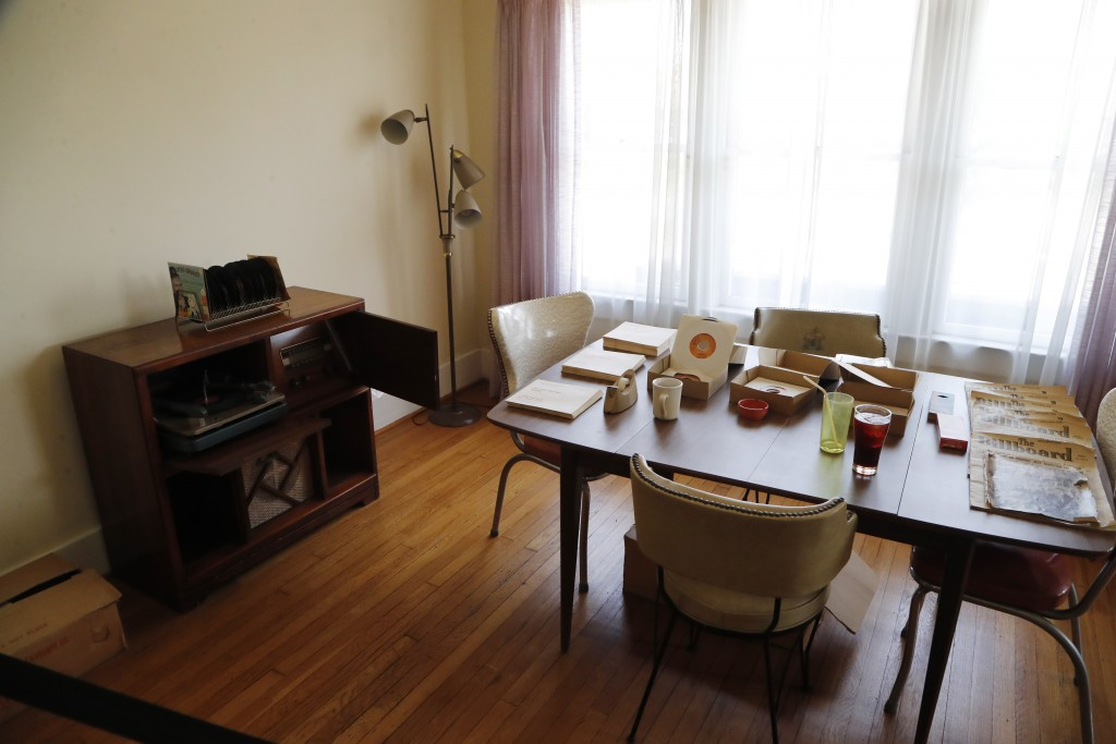 Berry Gordy's dining room in his apartment is seen during a tour of the Motown Museum, Wednesday, July 15, 2020, in Detroit. The Detroit building wher...