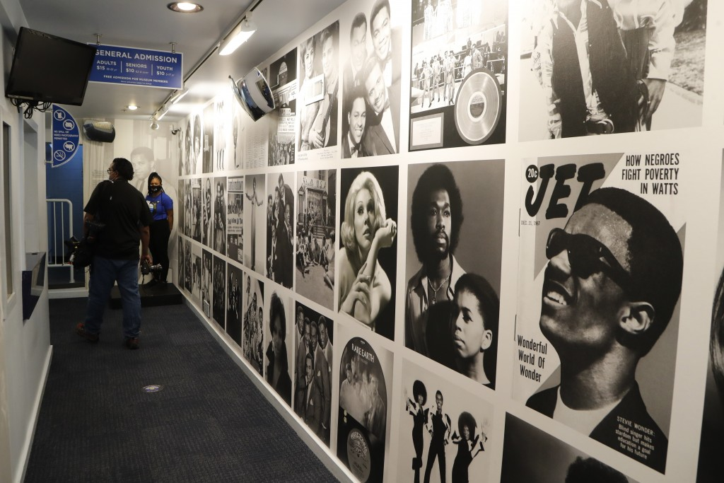 The entrance hallway to the Motown Museum is seen, Wednesday, July 15, 2020, in Detroit. The Detroit building where Berry Gordy Jr. built his music em...