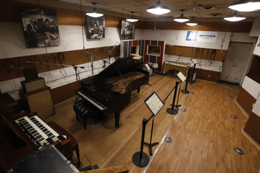 Studio A is seen at the Motown Museum, Wednesday, July 15, 2020, in Detroit. The Detroit building where Berry Gordy Jr. built his music empire reopene...
