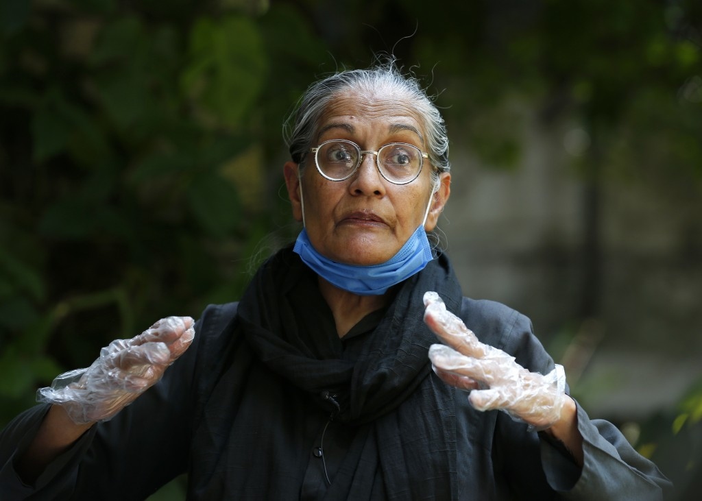 Tahira Abdullah, a human rights activist, speaks during an interview with The Associated Press, in Islamabad, Pakistan, Saturday, July 11, 2020. Abdul...