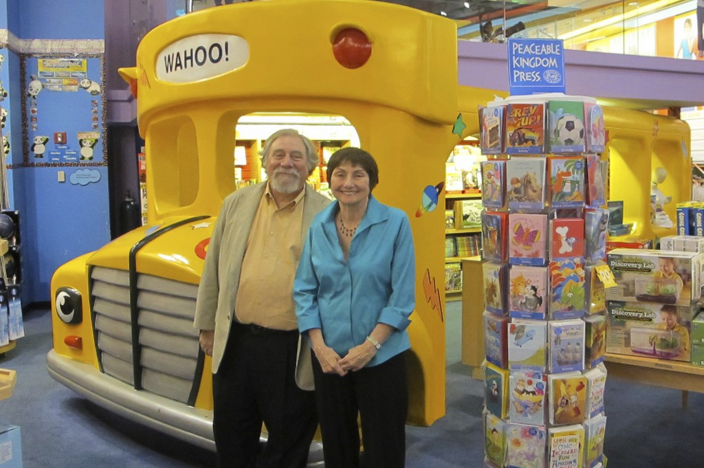 """This handout photo provided by Scholastic shows author Joanna Cole, right, and illustrator Bruce Degen. Cole, whose """"Magic School Bus"""" books transport..."""