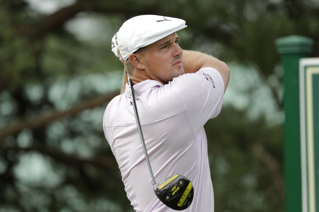 Bryson DeChambeau hits from the 11th tee during the first round of the Memorial golf tournament, Thursday, July 16, 2020, in Dublin, Ohio. (AP Photo/D...