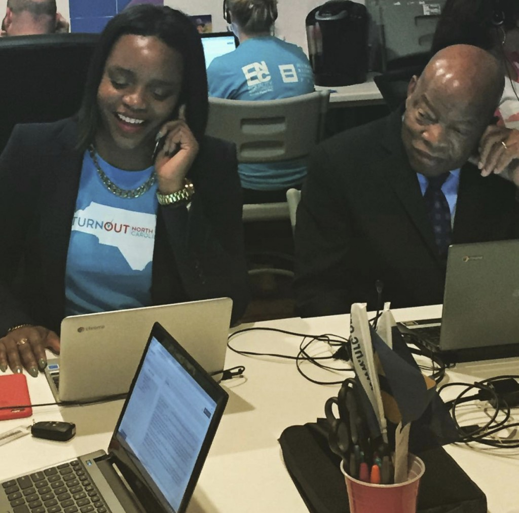 This Oct 3, 2016 shows Brittany Packnett-Cunningham with U.S. Rep. John Lewis, D-Ga. Of all the ways that John Lewis influenced American life and poli...