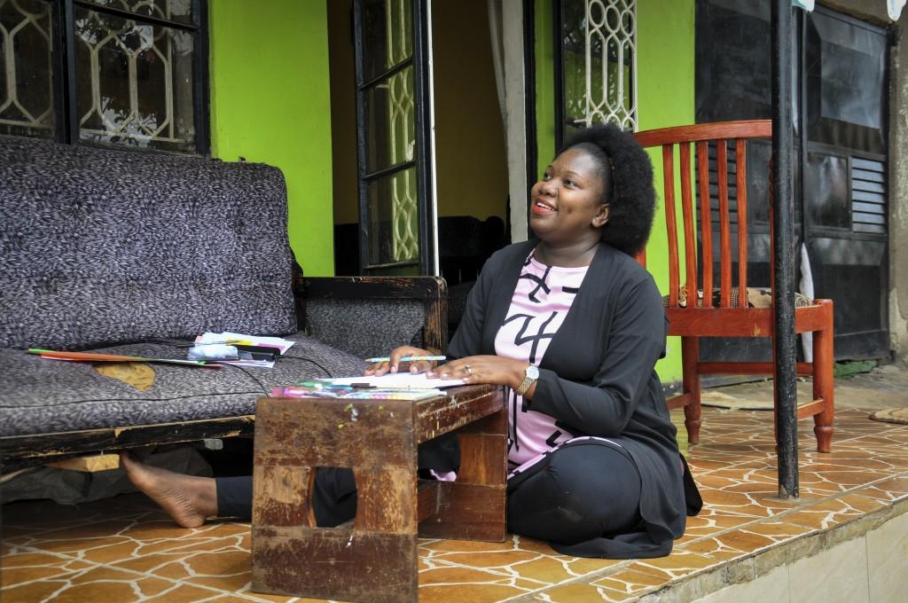 Stella Maris Basemera, a mathematics teacher who heads a Uganda-based group of tutors called Creative Learning Africa, writes work for students to com...