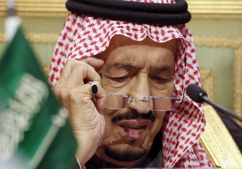 FILE - In this Dec. 10, 2019, file photo, Saudi King Salman chairs the 40th Gulf Cooperation Council Summit in Riyadh, Saudi Arabia. Saudi Arabia's Ki...