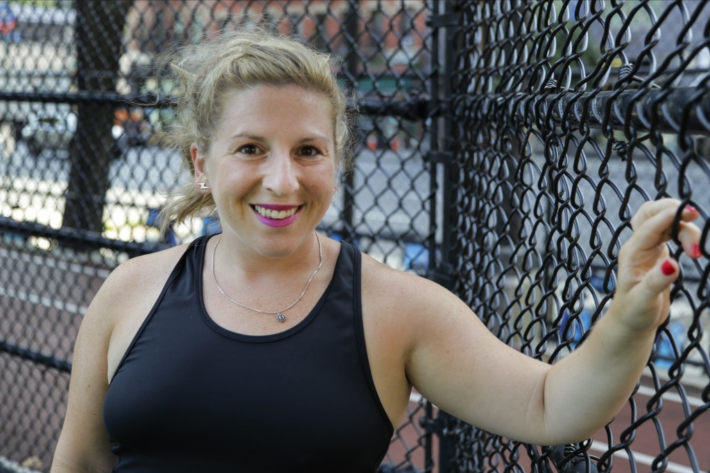 Lauren Wire, a 32-year-old publicist who lives in Manhattan, poses for a portrait before a fitness class Wednesday, July 15, 2020, in New York. Many A...