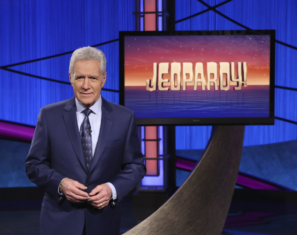 "This image released by Jeopardy! shows Alex Trebek, host of the game show ""Jeopardy!"" Trebek's memoir, ""The Answer Is…: Reflections on My Life,"" will ..."