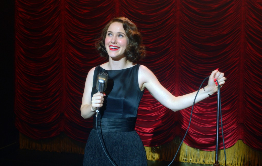 """This image released by Amazon Studios shows Rachel Brosnahan in a scene from """"The Marvelous Mrs. Maisel."""" Nominations for the  Emmy Awards will be ann..."""