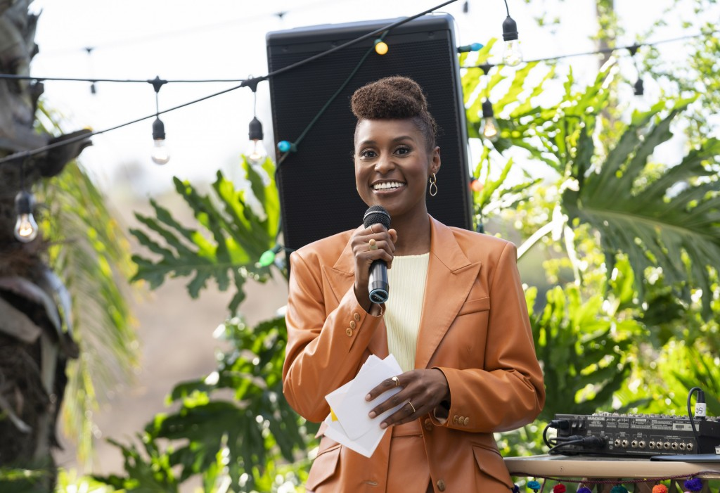 """This image released by HBO shows Issa Rae in a scene from """"Insecure."""" Rae was nominated for an Emmy Award for outstanding lead actress in a comedy ser..."""