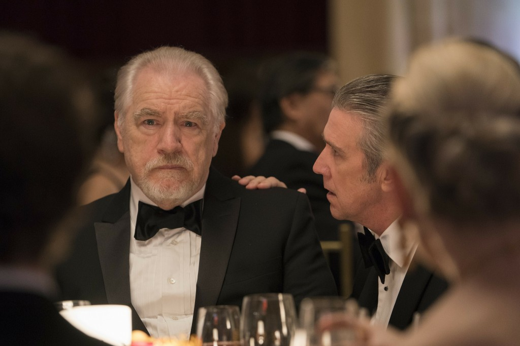 """This image released by HBO shows Brian Cox in a scene from """"Succession."""" Nominations for the  Emmy Awards will be announced on Tuesday, July 28. (HBO ..."""