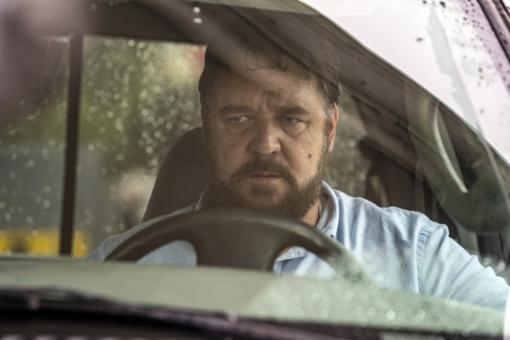 """This image released by Solstice Studios and Ingenious Media shows Russell Crowe in a scene from """"Unhinged."""" (Solstice Studios and Ingenious Media via ..."""