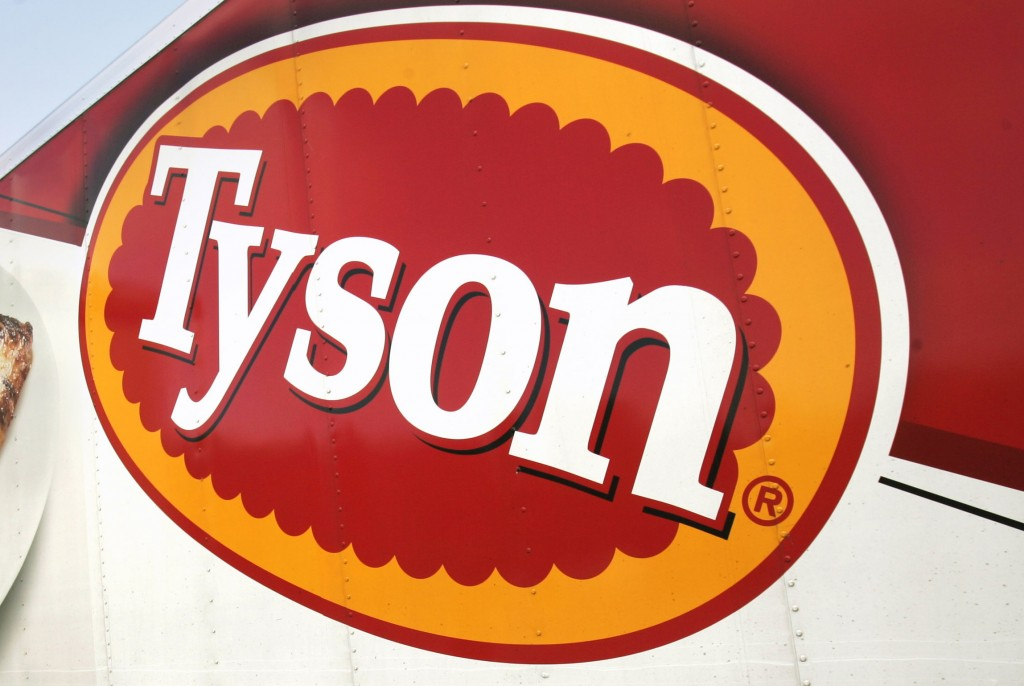 FILE - In this Oct. 28, 2009, file photo, a Tyson Foods, Inc., truck is parked at a food warehouse in Little Rock, Ark. Tyson Foods plans to administe...