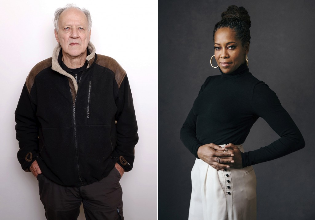 This combination photo shows actor-director Werner Herzog, left, and actress-director Regina King. The Toronto International Film Festival on Thursday...
