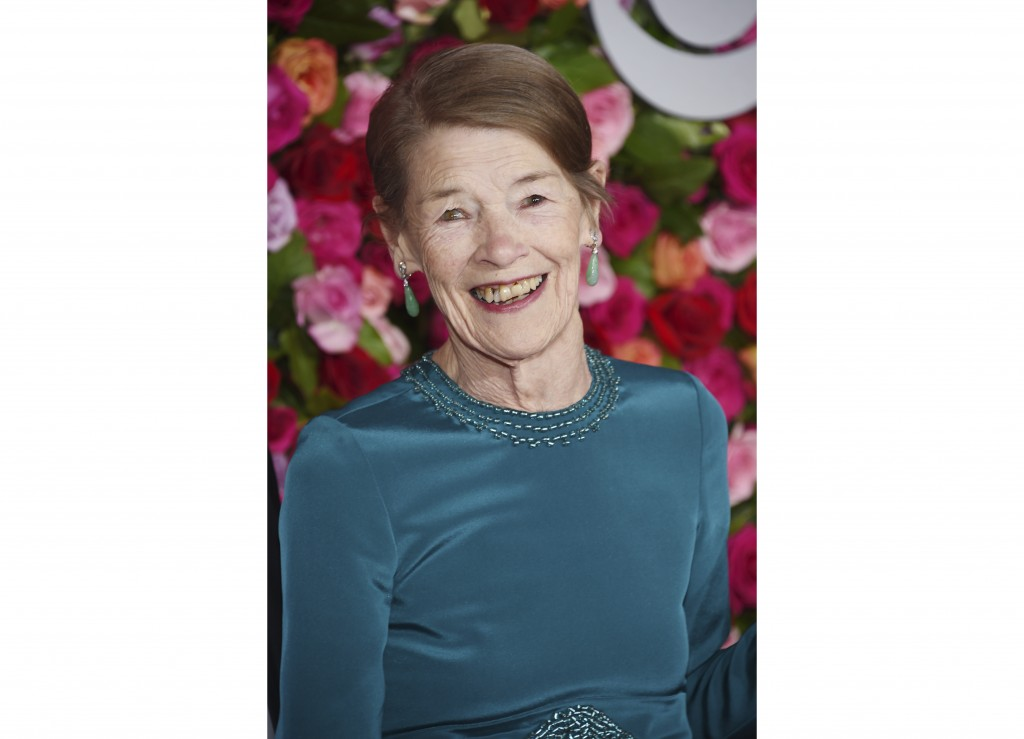 """FILE - Glenda Jackson arrives at the 72nd annual Tony Awards in New York on June 10, 2018.  Jackson will star in """"Elizabeth is Missing"""", a BAFTA-nomin..."""