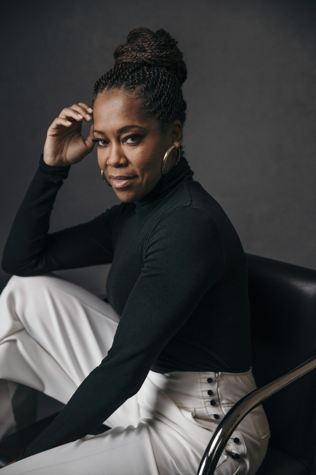 FILE - Regina King poses for a portrait at Sofitel in New York on Feb. 13, 2019. The Toronto International Film Festival on Thursday unveiled a lineup...
