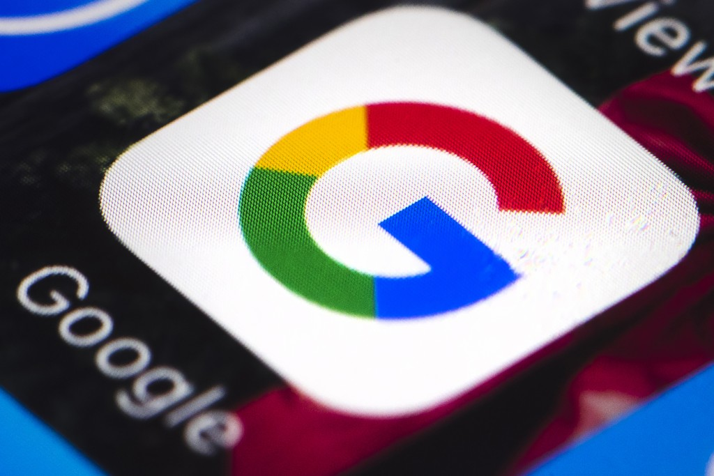 FILE - This April 26, 2017, file photo shows the Google mobile phone icon, in Philadelphia. The Australian government said on Friday, July 31, 2020 it...