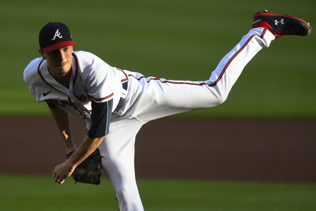 Atlanta Braves' Max Fried pitches against the Tampa Bay Rays during the first inning of a baseball game Thursday, July 30, 2020, in Atlanta. (AP Photo...