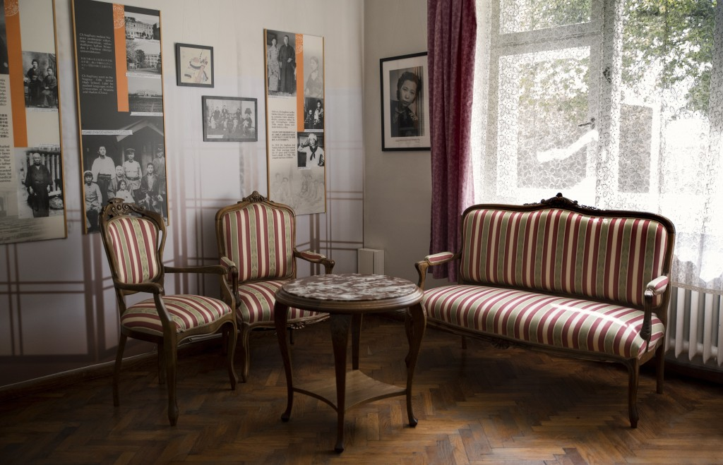 This handout photo provided by Chiune Sugihara Memorial Museum, shows a room in Chiune Sugihara memorial museum in Kaunas, Lithuania, Tuesday, May 12,...