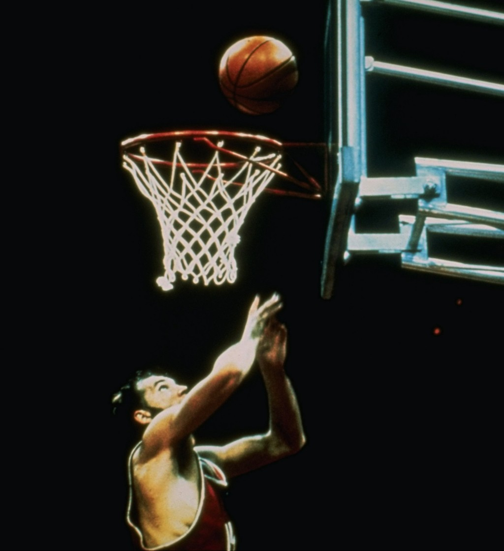 FILE - In this Sept. 10, 1972, the Soviet Union's Alexander Belov scores the winning basket to push his team past the United States 51-50 in the gold ...
