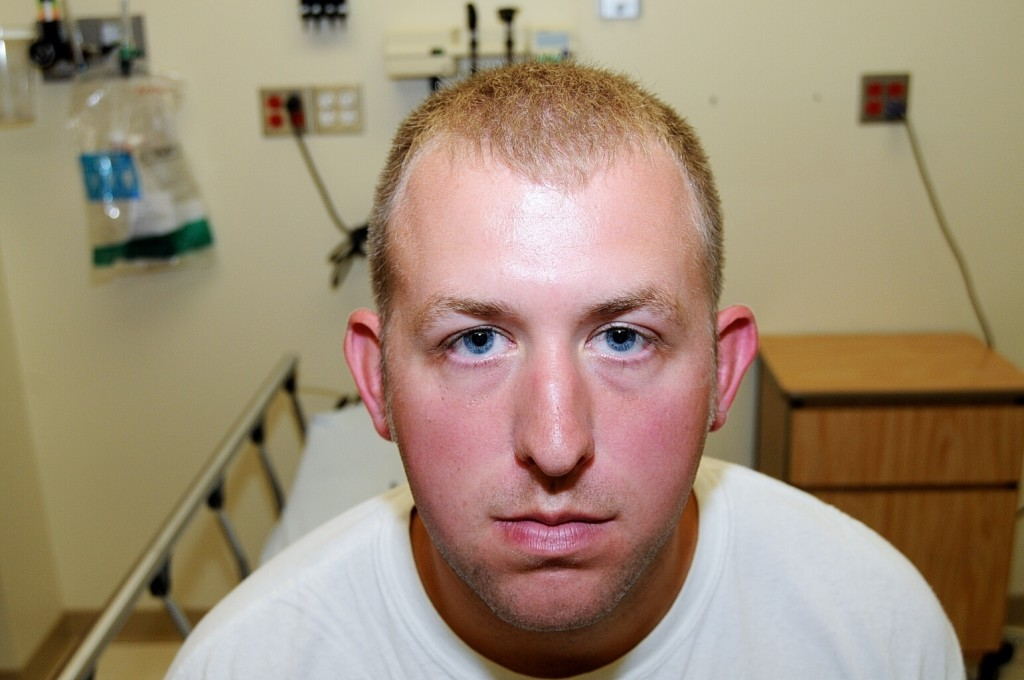 FILE - In this 2014 file photo provided by the St. Louis County Prosecuting Attorney's Office is Ferguson police officer Darren Wilson during his medi...