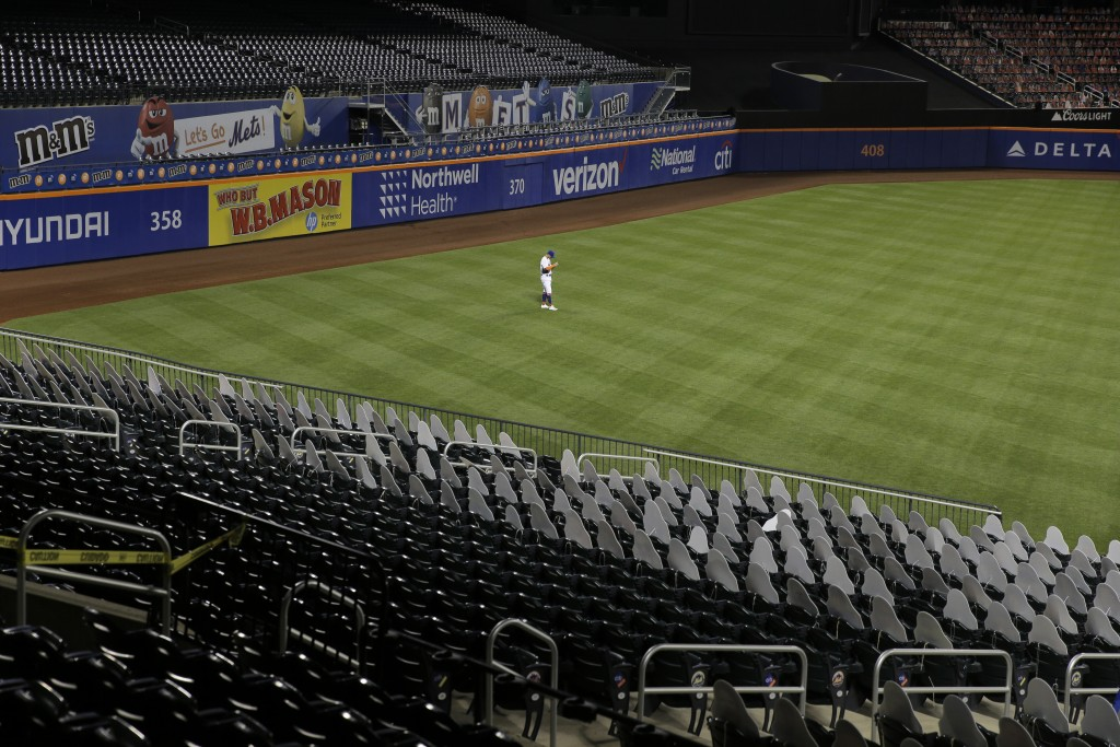 New York Mets left fielder J.D. Davis plays during the sixth inning of the baseball game against the Boston Red Sox at Citi Field, Thursday, July 30, ...