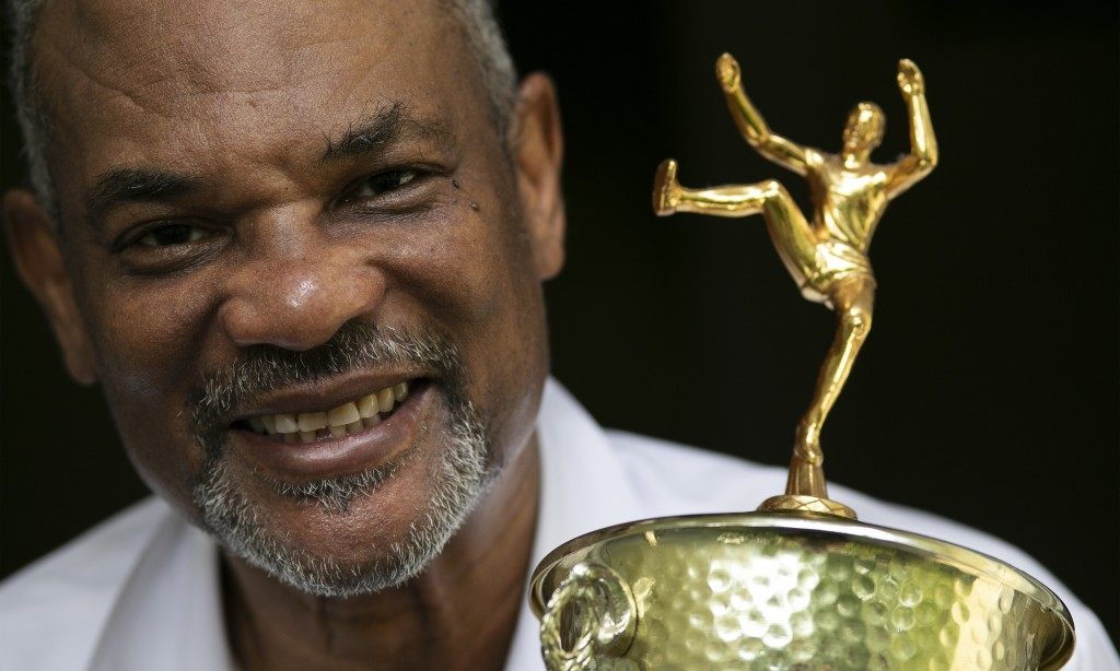 - Benn Fields holds a high jump trophy, Friday, July 31, 2020, in Salisbury Mills, N.Y. Fields will forever be known as a U.S. Olympian, he will also ...