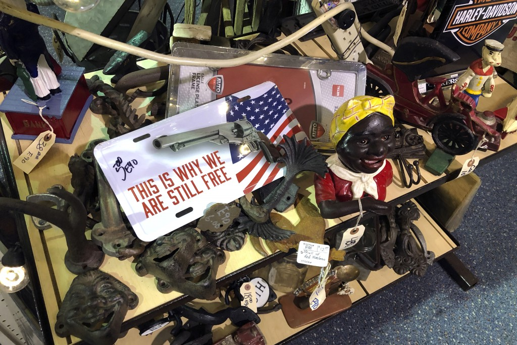 Items are for sale at Exit 76 Antique Mall in Edinburgh, Indiana, Tuesday, July 21, 2020. U.S. Rep. Greg Pence, the older brother of Vice President Mi...