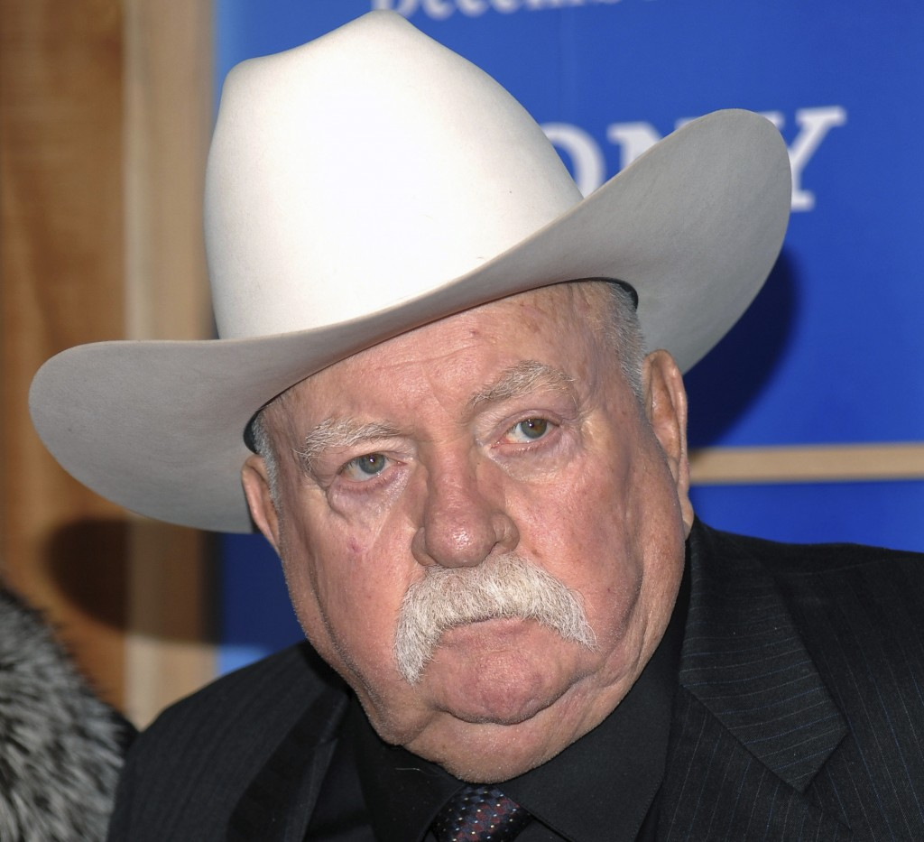 FILE - In this Monday, Dec. 14, 2009 file photo, Actor Wilford Brimley attends the premiere of 'Did You Hear About The Morgans' at the Ziegfeld Theate...
