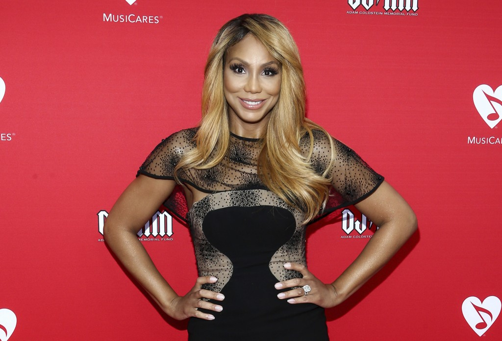 FILE - In this May 19, 2016, file photo, Tamar Braxton attends the 12th annual MusiCares MAP Fund Benefit Concert in Los Angeles. WE tv says it will h...