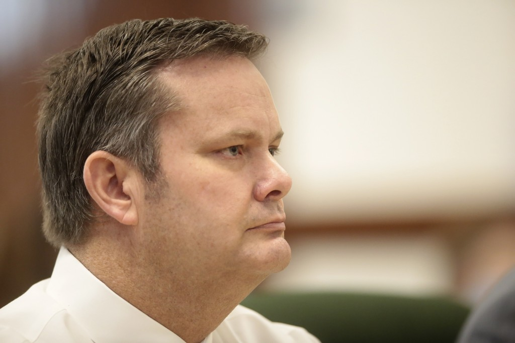 Chad Daybell listens during his preliminary hearing in St. Anthony, Idaho, on Tuesday, August 4, 2020. A preliminary hearing continues to decide wheth...