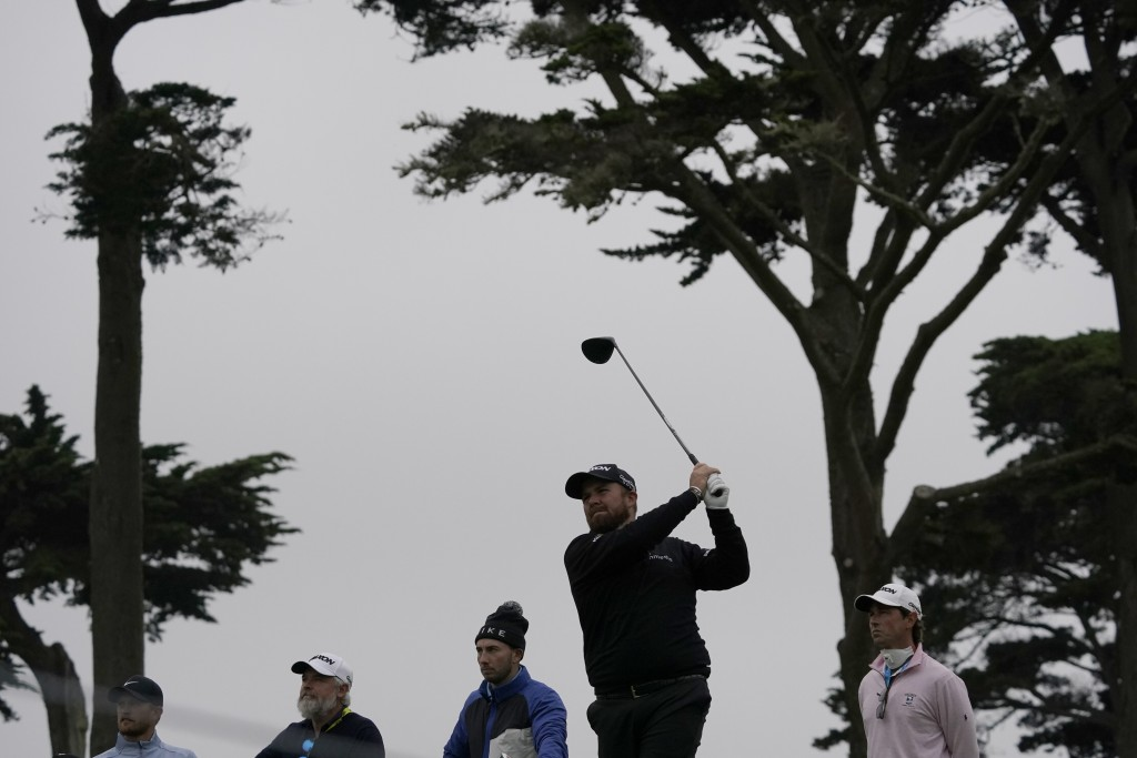 Shane Lowry of Ireland, watches his tee shot on the fourth hold during a practice round for the PGA Championship golf tournament at TPC Harding Park W...