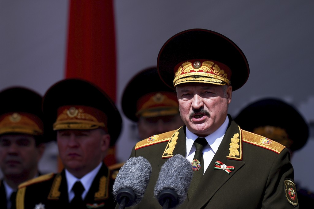 FILE In this file photo taken on Saturday, May 9, 2020, Lukashenko refused to impose any restrictions, making Belarus the only country in Europe to co...