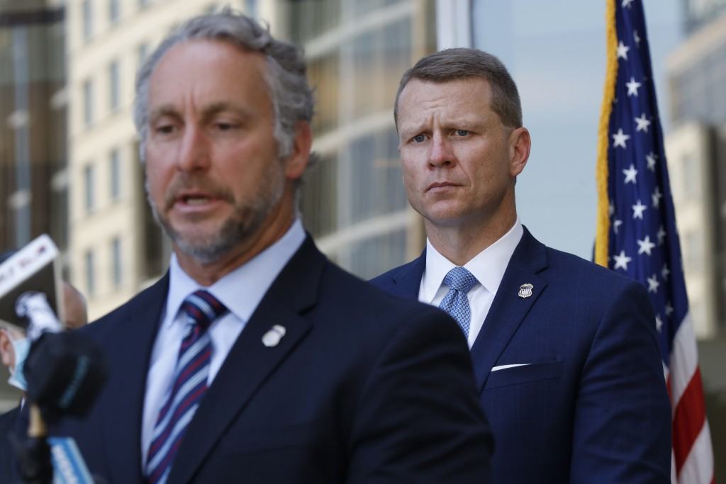Acting Director of U.S. Immigration and Customs Enforcement Matt Albence comments Thursday, Aug. 6, 2020, in Jackson, Miss., after the announcement of...