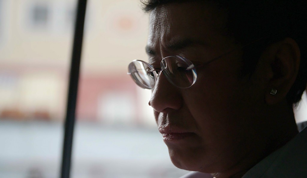 """This image provided by Frontline/PBS shows Filipino journalist Maria Ressa in a scene from the documentary """"A Thousand Cuts.""""  The documentary tracks ..."""