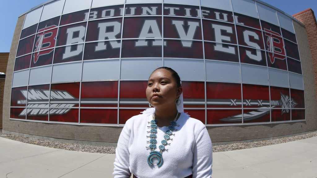 Lemiley Lane, a Bountiful junior who grew up in the Navajo Nation in Arizona, poses for a photograph at Bountiful High School, July 21, 2020, in Bount...