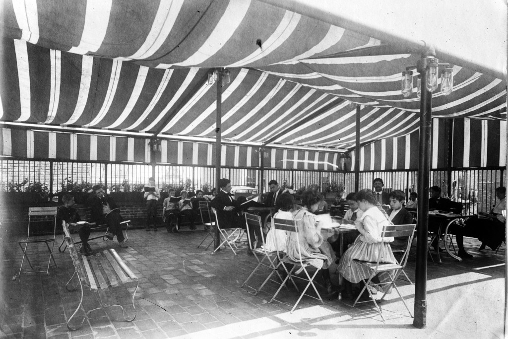 This 1900 photo from the Library of Congress photo shows an open air school in New York. Poor ventilation in school buildings across the U.S. will lim...