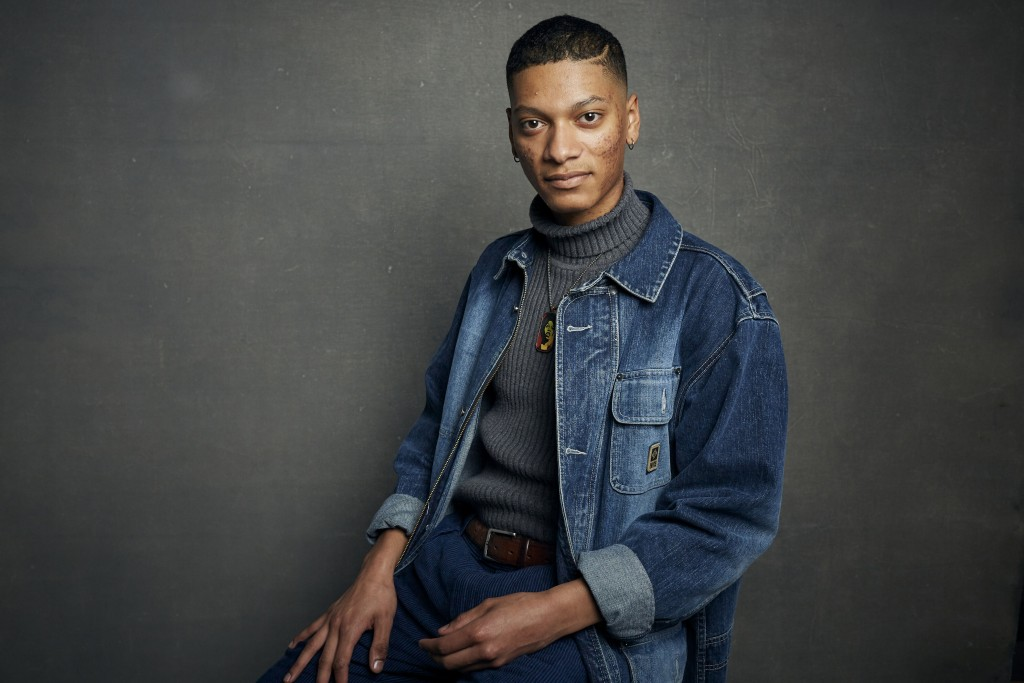 """FILE - Rene Otero poses for a portrait to promote the film """"Boys State"""" during the Sundance Film Festival in Park City, Utah on  Jan. 24, 2020. In the..."""