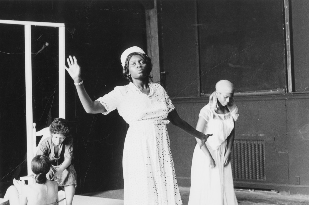 """Margaret Holloway, center, performs on stage in the drama production """"Recipe,"""" in this June 1974 photo provided by Bennington College in Bennington VT..."""